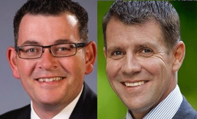 New South Wales Premier Mike Baird & Victorian Premier Daniel Andrews