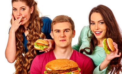 three-silly-looking-young-people-with-burgers