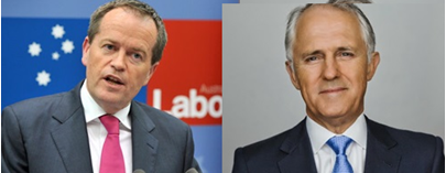 Prime Minister Malcolm Turnbull & Opposition Leader Bill Shorten