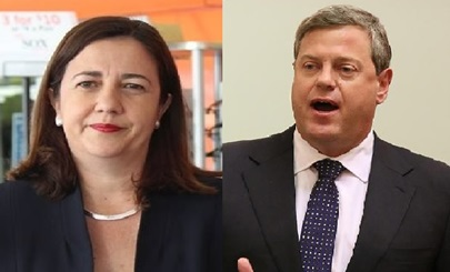 Morgan Poll on State Voting Intention - Queensland Premier Annastcia Palaszczuk and Opposition Leader Tim Nicholls