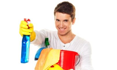 young-man-with-household-cleaning-products