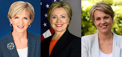 Deputy Liberal Leader Julie Bishop and Secretary Hillary Clinton and Deputy ALP Leader Tanya Plibersek