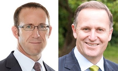 Prime Minister John Key and Opposition Leader Andrew Little